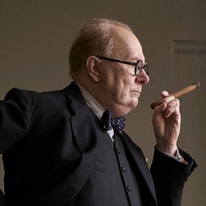 Gary Oldman plays Winston Churchill in Darkest Hour (Universal Pictures).