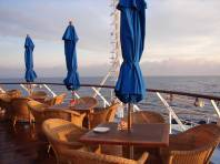 Compass Rose bar on the stern of Wind Surf.