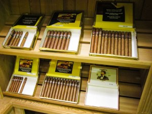 Cuban cigars in Peterson's humidor. Photograph, Glenn .Kaufman