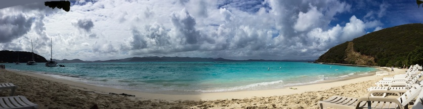 White bay on Jost Van Dyke -