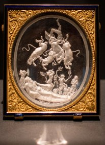 Giovanni Bernardi da Castel Bolognese , after a lost drawing by Michelangelo. displayed in the exhibit Michelangelo Divine Draftsman and Designer exhibit at the Metropolitan Museum of Art in New York
