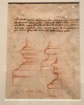 Michelangelo, Draft in Prose for a Poem displayed in the exhibit Michelangelo Divine Draftsman and Designer exhibit at the Metropolitan Museum of Art in New York