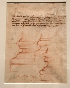 Michelangelo, Draft in Prose for a Poem displayed in the exhibit Michelangelo Divine Draftsman and Designer exhibit at the Metropolitan Museum of Art in New York