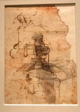 displayed in the exhibit Michelangelo Divine Draftsman and Designer exhibit at the Metropolitan Museum of Art in New York