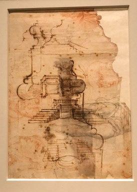 displayed in the exhibit Michelangelo Divine Draftsman and Designer exhibit at the Metropolitan Museum of Art in New York