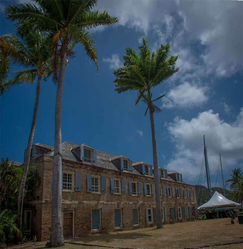 One of the buildings at Nelson's Dockyard at English Harbour in Antigua