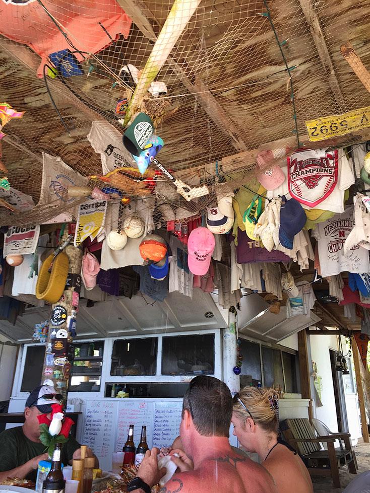 Interior of One Love Beach Bar Jost Van Dyke