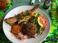 Pan Fried Snapper at Rosemary's in Marigot