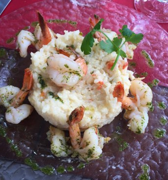 Shrimp risotto at Pipiri's was perfect!