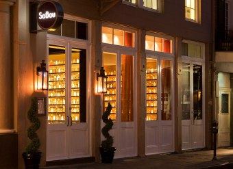 Exterior of SoBou in New Orleans -- makes the list of the best restaurants in the city