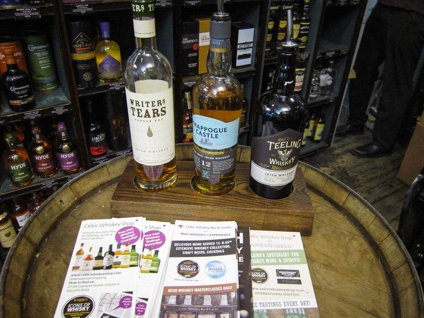 Whiskey tasting in the Celtic Whiskey Shop